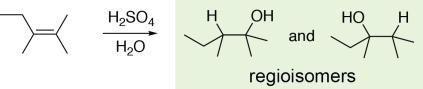 Alkene Hydration Regioisomers