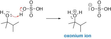 Alcohol Dehydration Mechanism Step 1