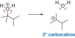 Alcohol Dehydration Mechanism Step 2