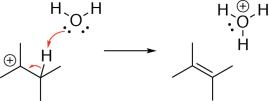 Alcohol Dehydration Mechanism Step 3