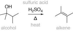 Alcohol Dehydration Reaction Example