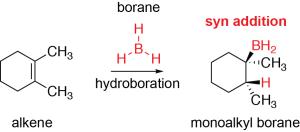 Hydroboration Syn Addition