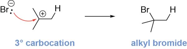 Alkene Hydrohalogenation Mechanism Step 2
