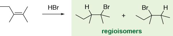 Alkene Hydrohalogenation Regioisomers