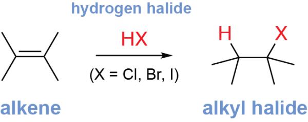 General Alkene Hydrohalogenation Reaction