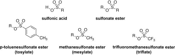 Sulfonate Ester Examples