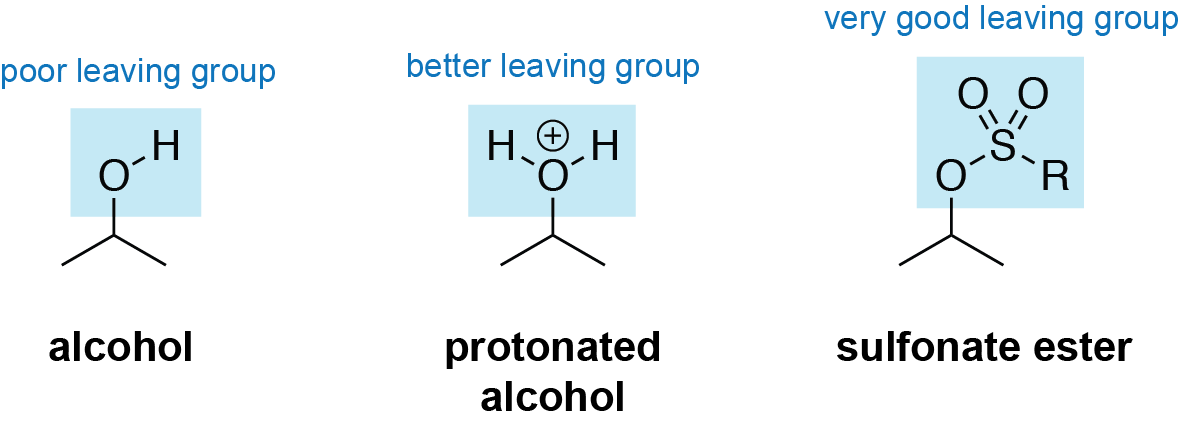 Sulfonate Ester Leaving Group